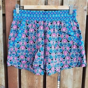 Lily White Multicolor Shorts